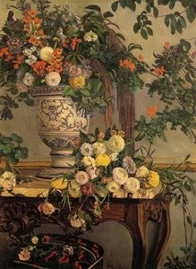 Jean Frederic Bazille - 花卉