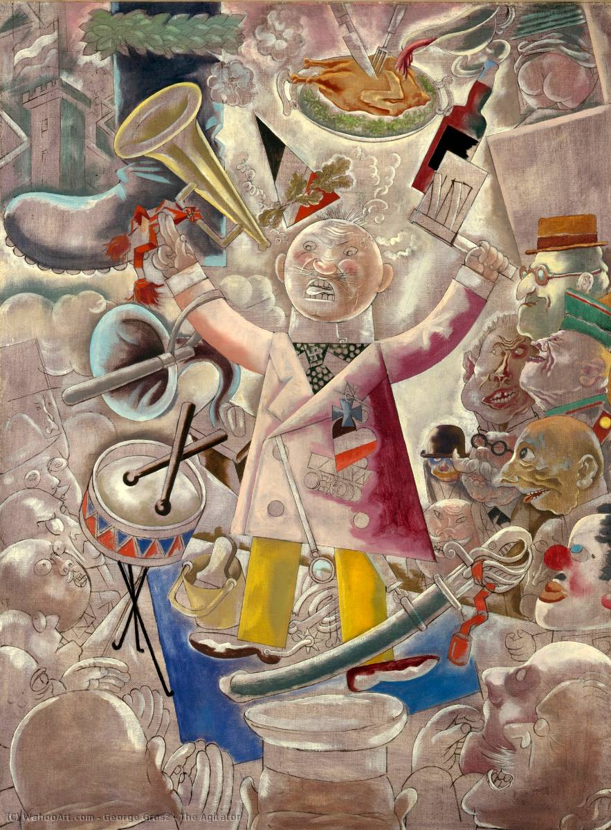 搅拌器, 1928 通过 George Grosz (1893-1959, Germany) | 畫再現 | WahooArt.com