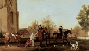 George Stubbs - 猎人离开Southill