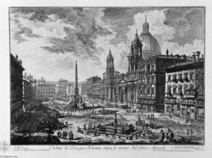 Giovanni Battista Piranesi - 鉴于Piazza della Rotonda广场的