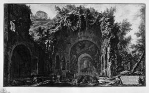 Giovanni Battista Piranesi - 视图 寺庙 Camene