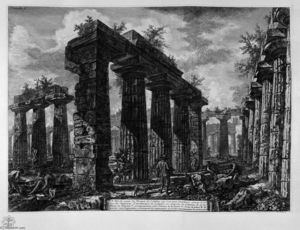 Giovanni Battista Piranesi - 查看pronaos的遗体
