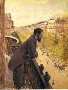 Gustave Caillebotte - 男子在阳台