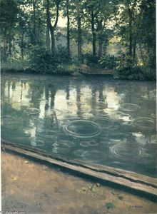 Gustave Caillebotte - 该Yerres,雨