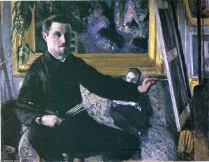 Gustave Caillebotte - 自画像与画架
