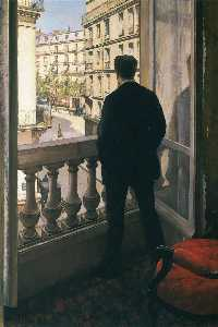 Gustave Caillebotte -  男子  在  窗口