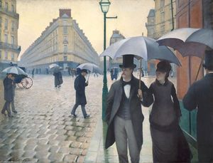 Gustave Caillebotte - 巴黎 一个  多雨的  天