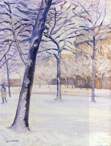 Gustave Caillebotte -  公园  在 雪