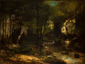 Gustave Courbet -  的 溪水