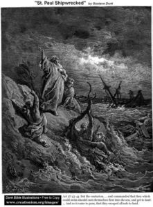 Paul Gustave Doré - 圣 . paulshipwrecked