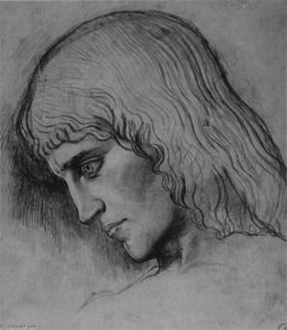 Gustave Moreau - Study for the head of `Oedipus