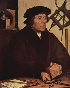Hans Holbein The Younger - 尼古拉斯肖像求Kratzer的