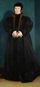 Hans Holbein The Younger - 丹麦的克里斯蒂娜