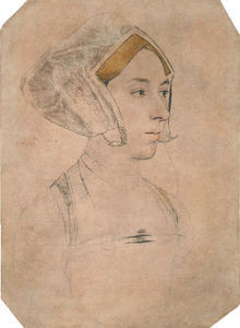 Hans Holbein The Younger -  肖像  女士 , 认为 是 安妮·博林