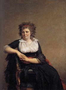 Jacques Louis David - robertine tourteau , 侯爵夫人 d'Orvilliers