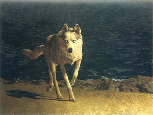 Jamie Wyeth - 狼犬