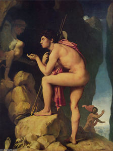 Jean Auguste Dominique Ingres - oedipus`  和 狮身人面像