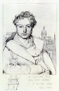 Jean Auguste Dominique Ingres - 维克多Dourlen