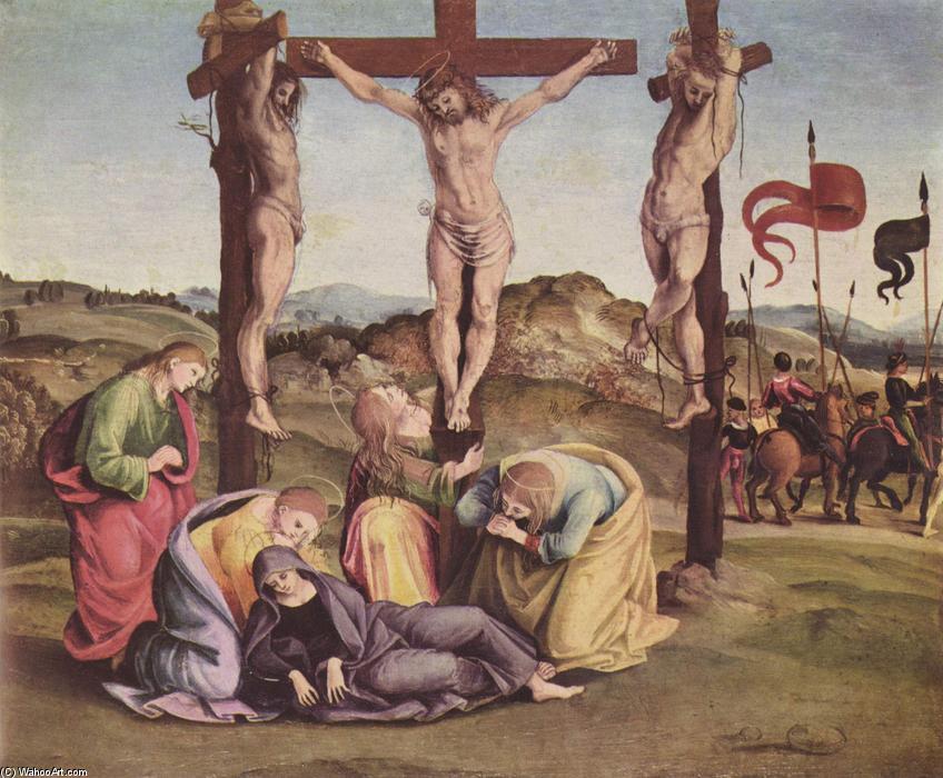耶稣被钉十字架(2), 蛋彩画 通过 luca signorelli (1445-1523, italy
