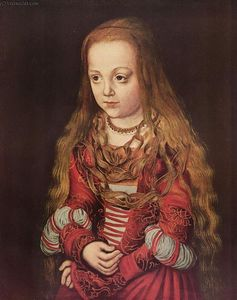 Lucas Cranach The Elder -  肖像 撒克逊人 公主