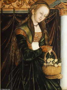 Lucas Cranach The Elder - 圣多萝西娅