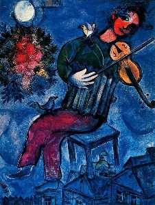 Marc Chagall - 蓝色提琴手