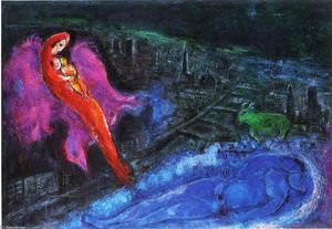 Marc Chagall - 桥梁在塞纳河