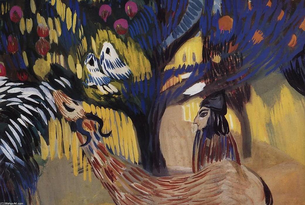 近石榴树, 蛋彩画 通过 martiros saryan (1880-1972