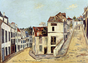 Maurice Utrillo - 蓬图瓦兹,就是Eperon L 街和街德拉Coutellerie