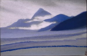 Nicholas Roerich - Siver 云彩 over 山区
