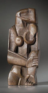 Ossip Zadkine - 女子站在