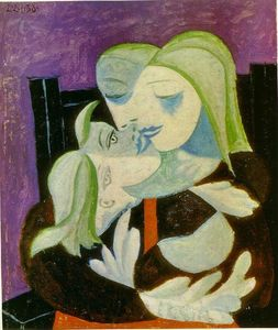 Pablo Picasso - 母亲  和  孩子 ( Marie-Therese 和maya )
