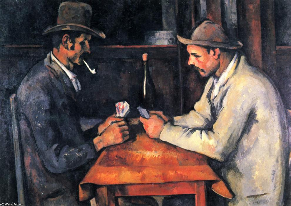 卡选手, 1893 通过 Paul Cezanne (1839-1906, France) | 畫再現 | WahooArt.com