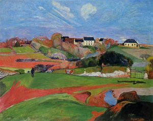 Paul Gauguin - 在景观勒Pouldu