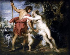 Peter Paul Rubens - 金星UND阿多尼斯