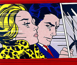 Roy Lichtenstein -  在 汽车