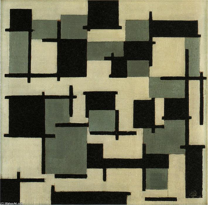 组成  第十三, 1918 通过 Theo Van Doesburg (1883-1931, Netherlands) | 傑作拷貝 | WahooArt.com