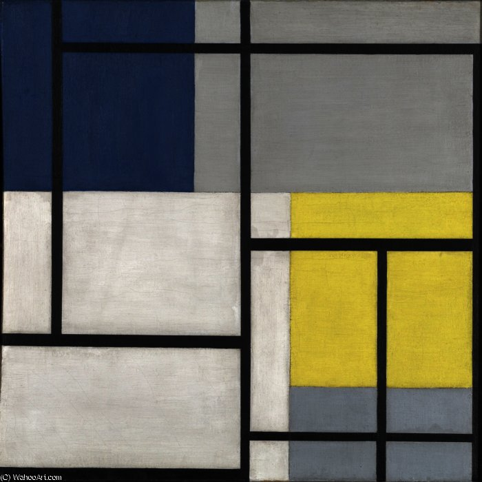 同时组成二十四, 1929 通过 Theo Van Doesburg (1883-1931, Netherlands) | 畫再現 | WahooArt.com