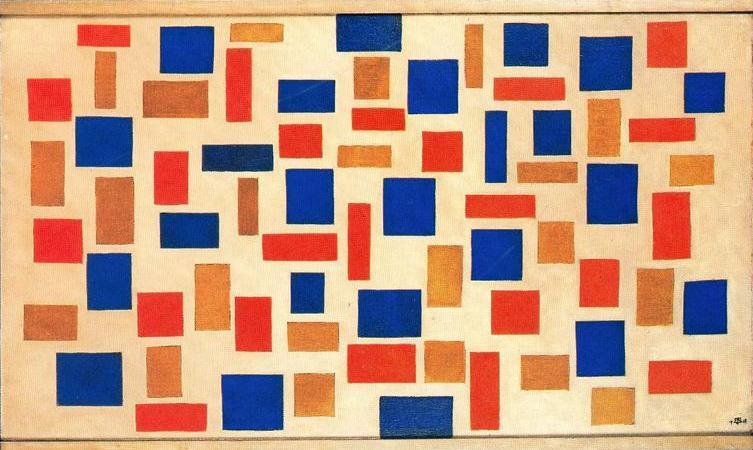 组成, 油画 通过 Theo Van Doesburg (1883-1931, Netherlands)