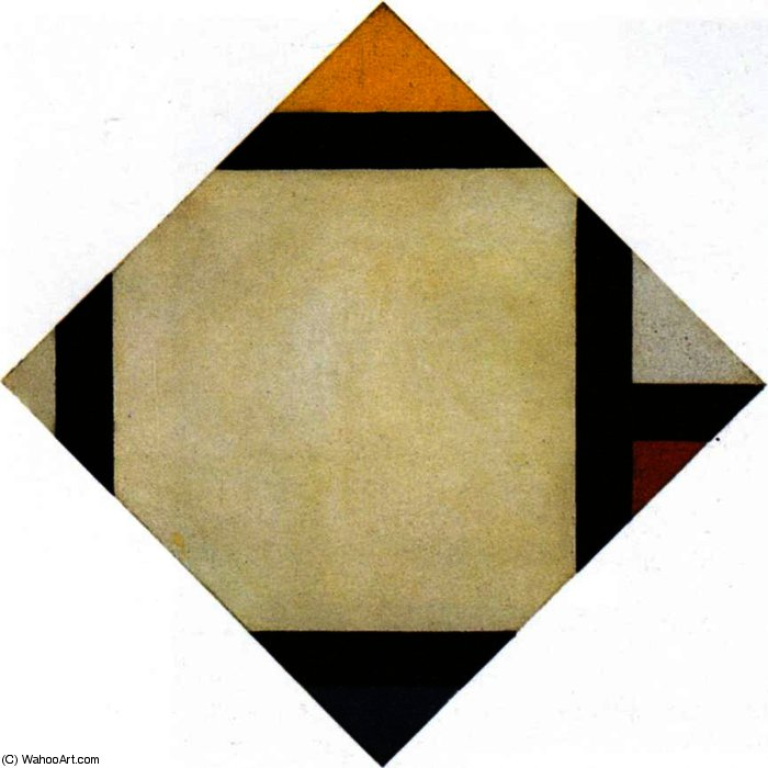 计数器组成七, 1924 通过 Theo Van Doesburg (1883-1931, Netherlands) | 傑作拷貝 | WahooArt.com