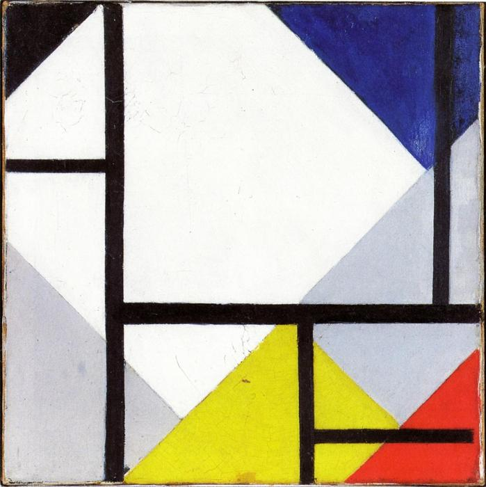 同时计数器组成, 1929 通过 Theo Van Doesburg (1883-1931, Netherlands) | 幀畫冊專輯 | WahooArt.com