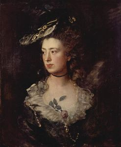 Thomas Gainsborough - 肖像 of  的 Mary Gainsborough