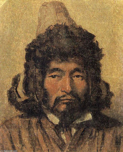 Vasily Vasilevich Vereshchagin - 哈萨克与毛皮帽子