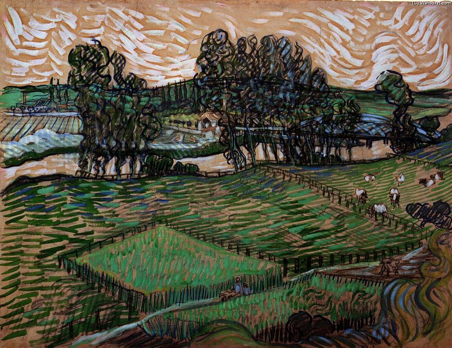 的 瓦兹 , 水粉画 通过 Vincent Van Gogh 1853 1890, Netherlands