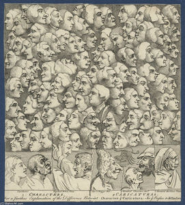William Hogarth - 人物和Caricaturas