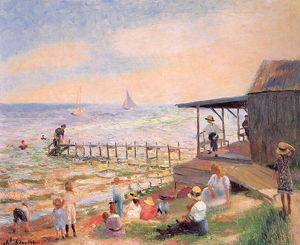 William James Glackens - 海滩边