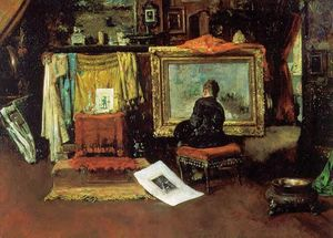 William Merritt Chase -  的 `tenth`  街  工作室