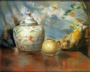 William Merritt Chase - 静物  用鲜花