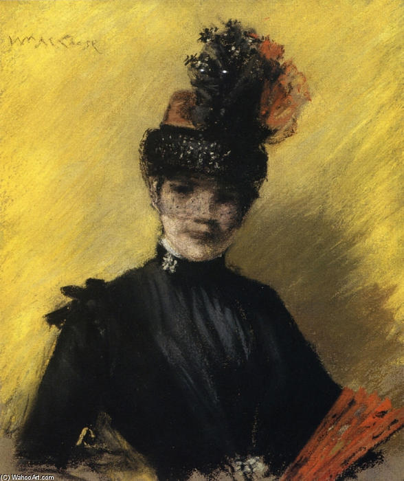 williamchase_学习of 黑色对黄釉, 1886 通过 william merritt chase (1849-1916