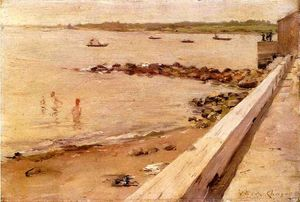 William Merritt Chase -  的  泳客